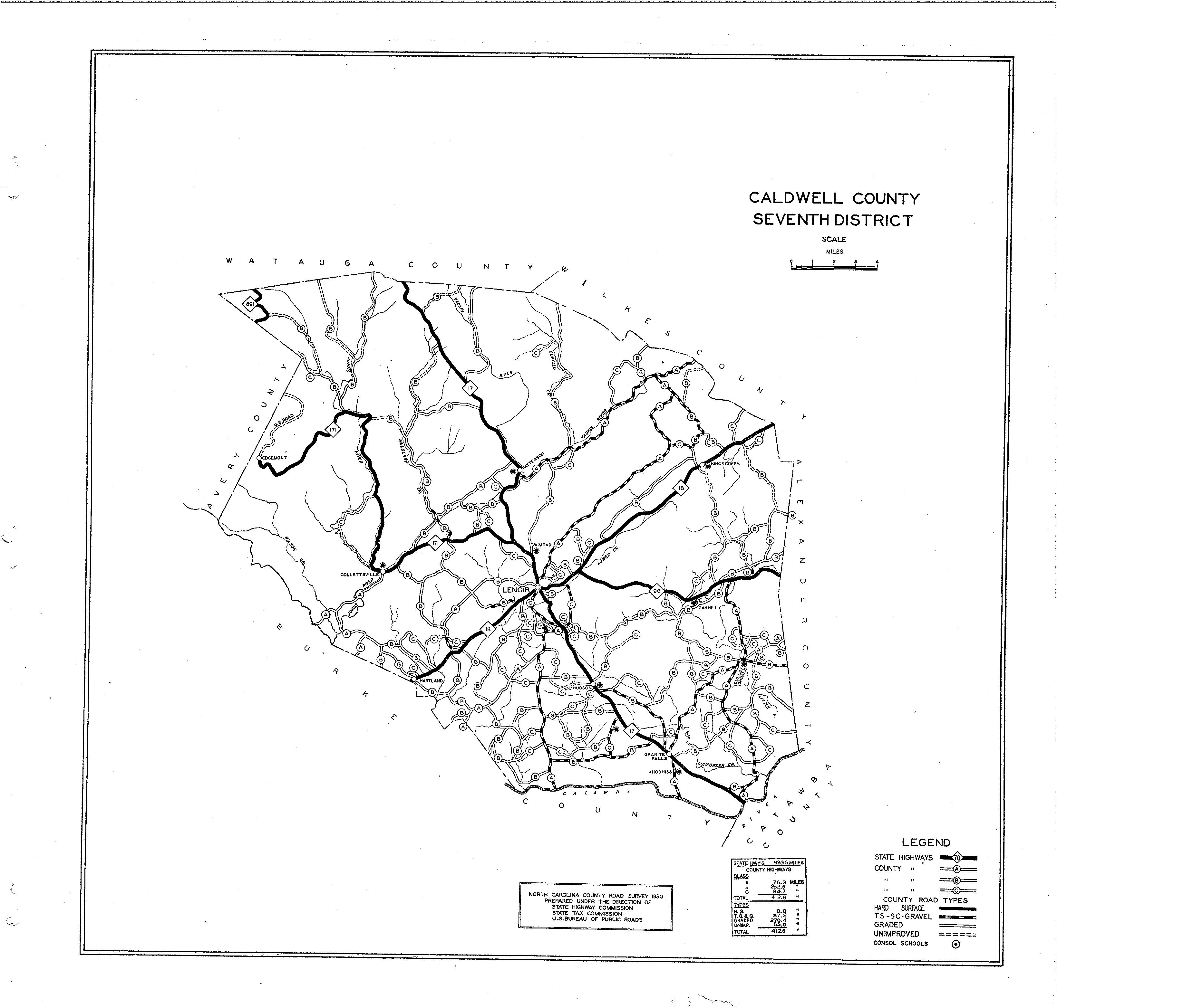 Caldwell County Maps on