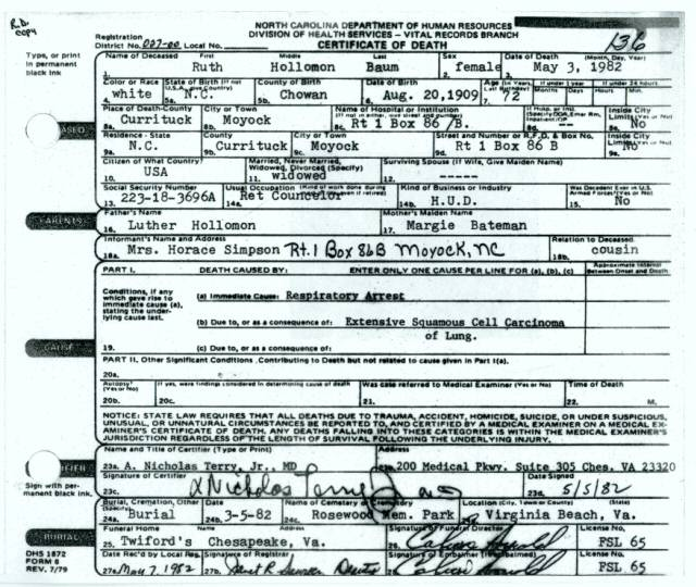 birth certificate from moyock north carolina