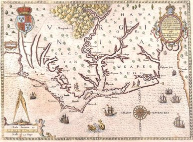 Sir Walter Raleigh Map