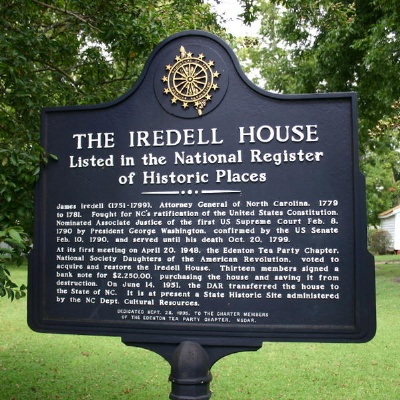 Iredell House, Edenton Chowan County, NC
