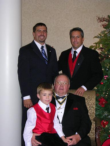 Claude Thomas Hardison, Jr  with sons Paul Michael Hardison (left) and  Claude Thomas Hardison, III (right)   holding Grandson Trent Thomas Hardison,  Son of Claude Thomas Hardison, III