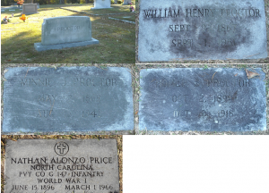 Henry and Minnie Proctor Family - Forest Hill Cemetery, Nashville, NC