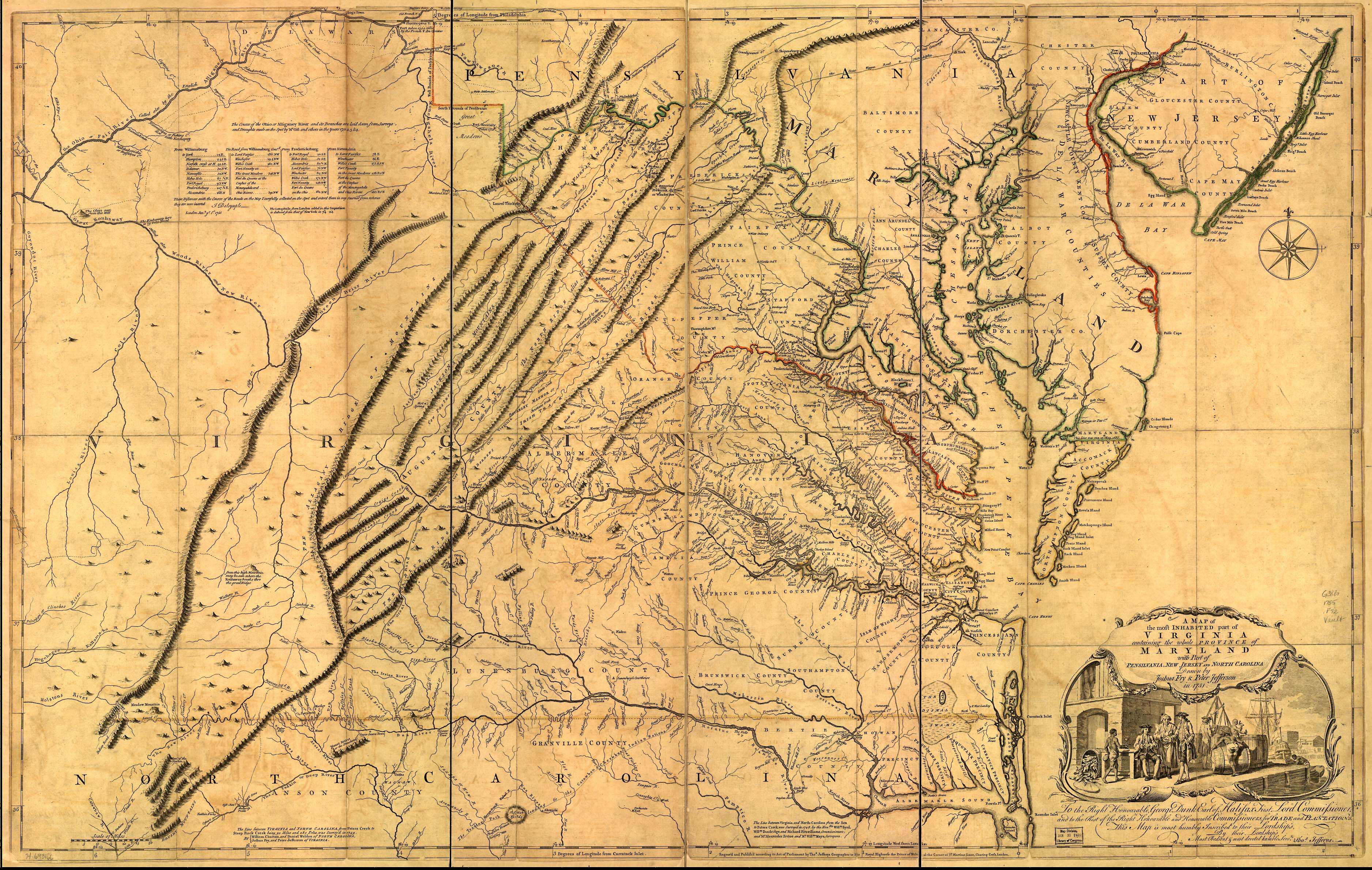 NORTH CAROLINA MAPS - 1800s map of us