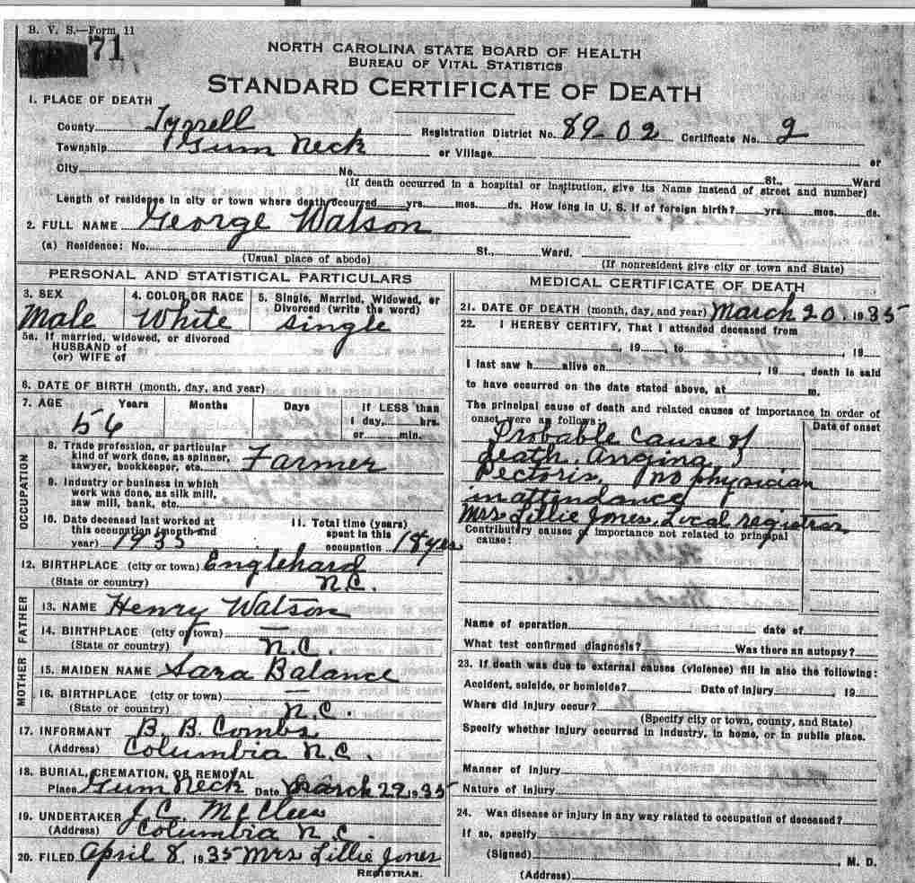 Tyrrell county death certificates balance xflitez Choice Image