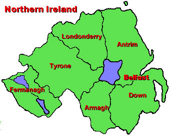 Map Of Northern Ireland Counties.White Family Of Northern Ireland To Chester Co Pa And Tryon Co Nc
